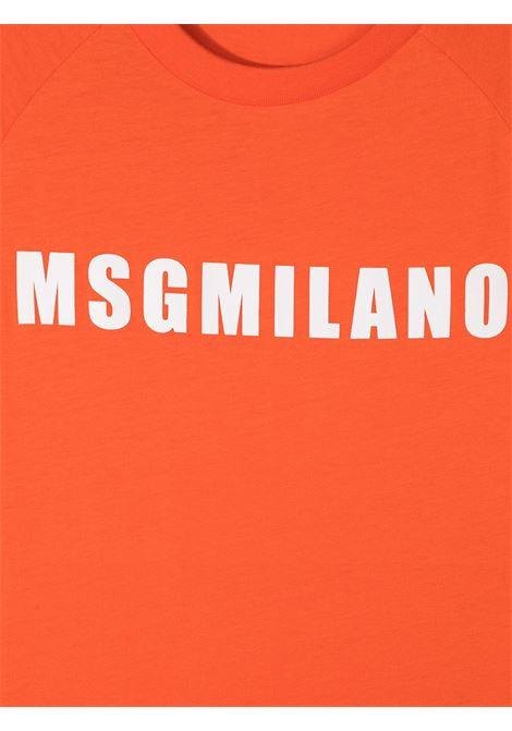 maglia arancio MSGM kids | T-shirt | MS026827030#