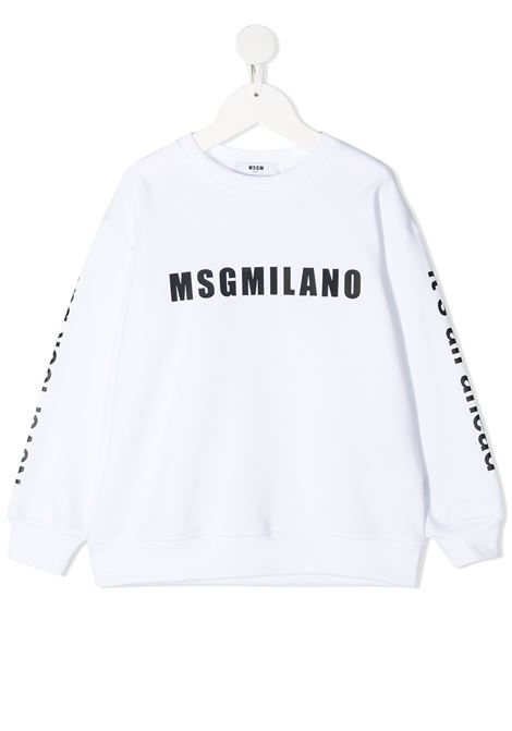 felpa bianca MSGM kids | Felpa | MS026828001#