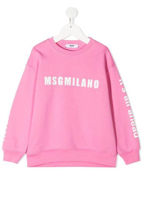 felpa rosa MSGM kids | Felpa | MS026828042#