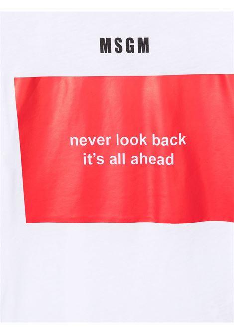 maglia bianca MSGM kids | T-shirt | MS026833001/06#