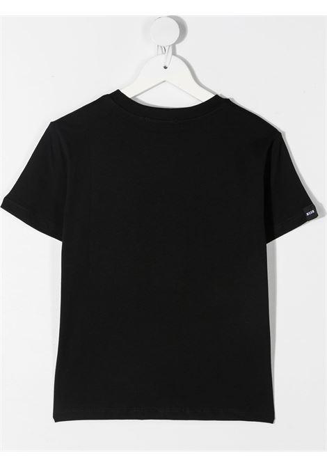 maglia nera MSGM kids | T-shirt | MS026833110/41#