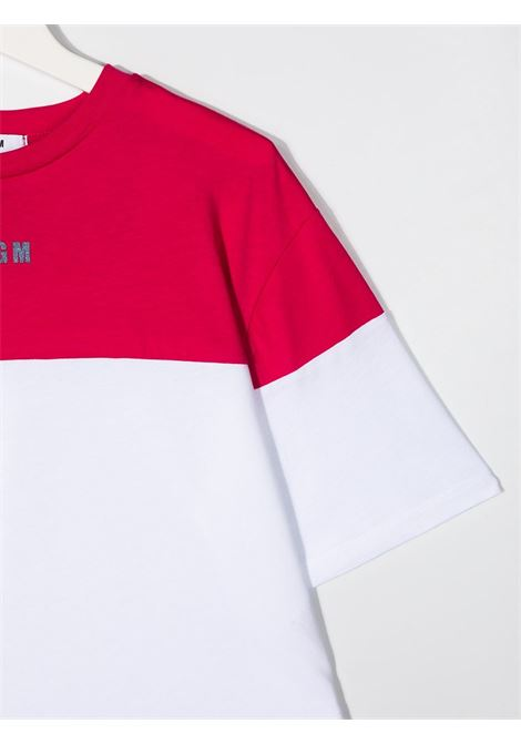 maglia bicolor MSGM kids | T-shirt | MS026879135/01##