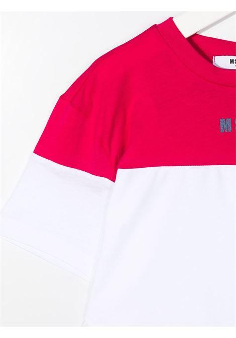 maglia bicolor MSGM kids | T-shirt | MS026879135/01#