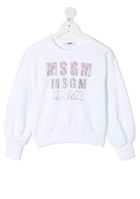 FELPA BIANCA MSGM kids | Felpa | MS026898001#