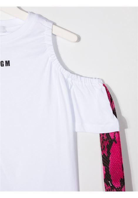 CANOTTA BIANCA MSGM kids   T-shirt   MS026899001##