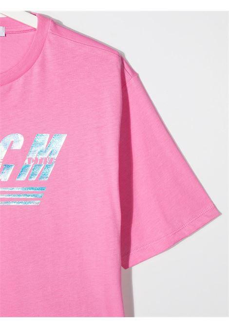 maglia rosa MSGM kids | T-shirt | MS027072042##