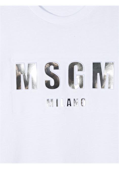 MAGLIA BIANCA MSGM kids | T-shirt | MS027389001##