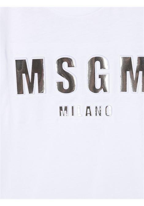 MAGLIA BIANCA MSGM kids | T-shirt | MS027389001#