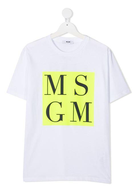 MAGLIA BIANCA MSGM kids | T-shirt | MS027590001##