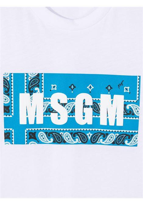 MAGLIA BIANCA MSGM kids | T-shirt | MS027622001/50#