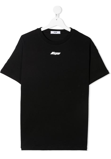 maglia nera MSGM kids | T-shirt | MS027638110##