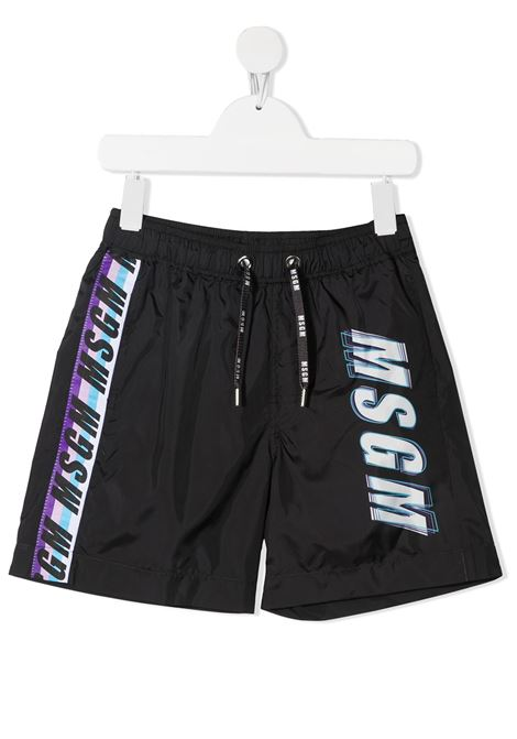 costume nero MSGM kids | Bermuda | MS027662110#