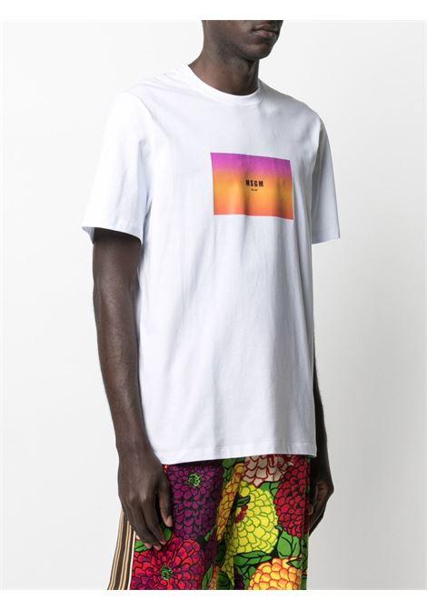 T-SHIRT STAMPA LOGO MULTICOLOR MSGM | T-shirt | 3040MM16421709801