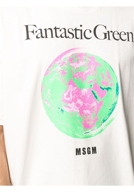 T-SHIRT STAMPA WORLD MSGM | T-shirt | 3040MM17121711702