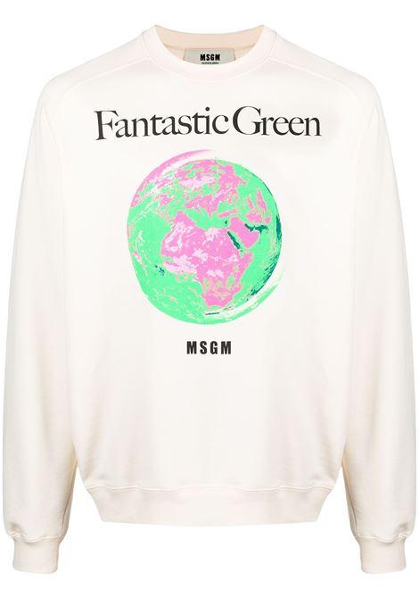 FELA STAMPA FANTASTIC GREEN MSGM | Felpa | 3040MM17321711902