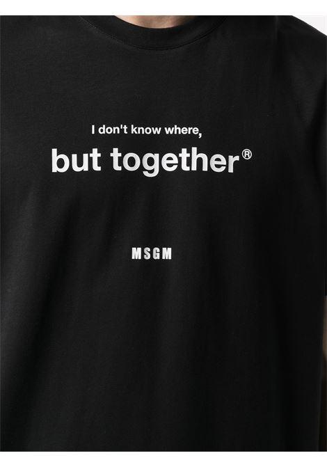 T-SHIRT STAMPA BUT TOGHETER MSGM | T-shirt | 3040MM18221709899
