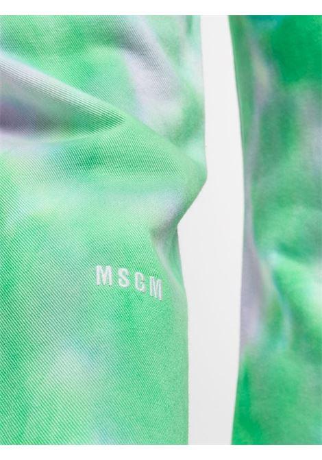 DENIM TIE DYE MSGM | Pantalone | 3040MP53T21708336