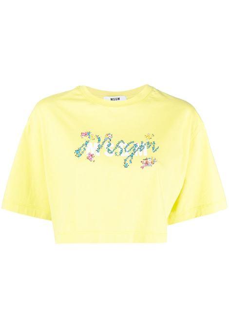 CROP TOP LOGO MSGM | T-shirt | 3041MDM17121729807