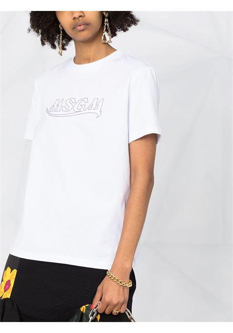 T-SHIRT STAMPA LOGO MSGM | T-shirt | 3041MDM17321729801