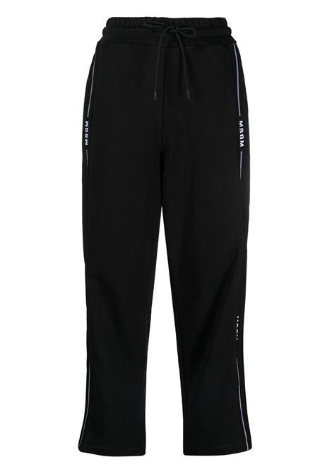 PANTALONI TUTA CROP CON LOGO MSGM | Pantalone | 3041MDP6021729999