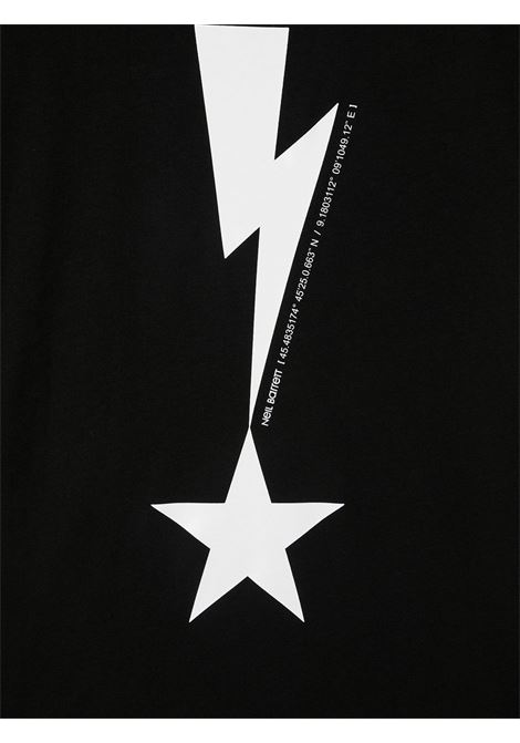t-shirt nera NEIL BARRETT KIDS   T-shirt   027867110##