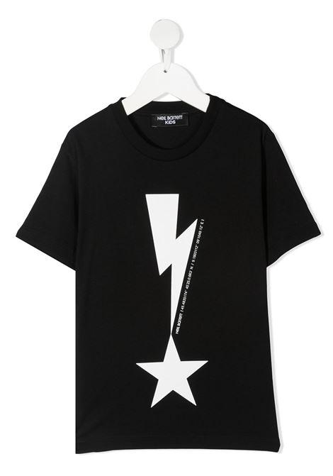 maglia nera NEIL BARRETT KIDS | T-shirt | 027867110#