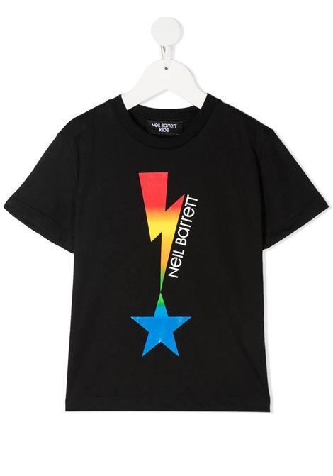 maglia nera NEIL BARRETT KIDS | T-shirt | 027880110#