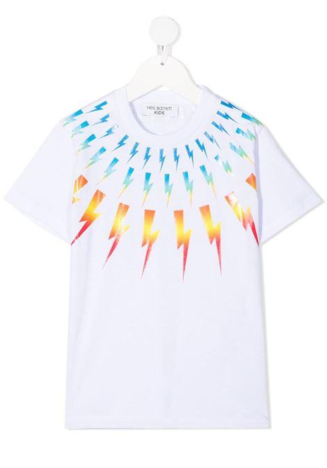 maglia bianca NEIL BARRETT KIDS | T-shirt | 027886001#
