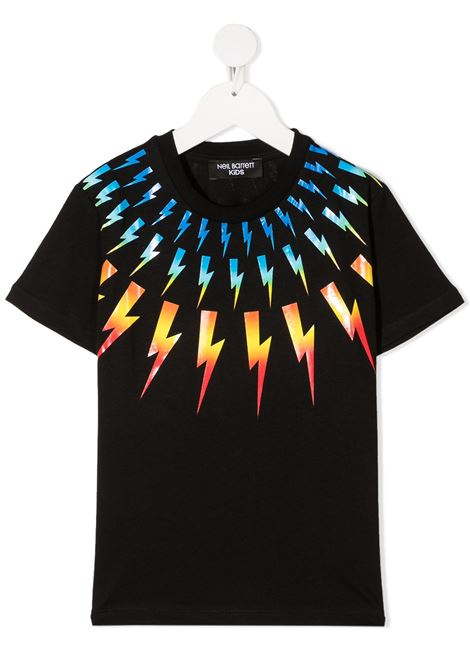 maglia nera NEIL BARRETT KIDS | T-shirt | 027886110#