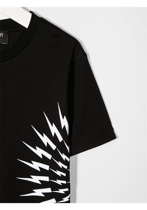 maglia nera NEIL BARRETT KIDS | T-shirt | 027890110#