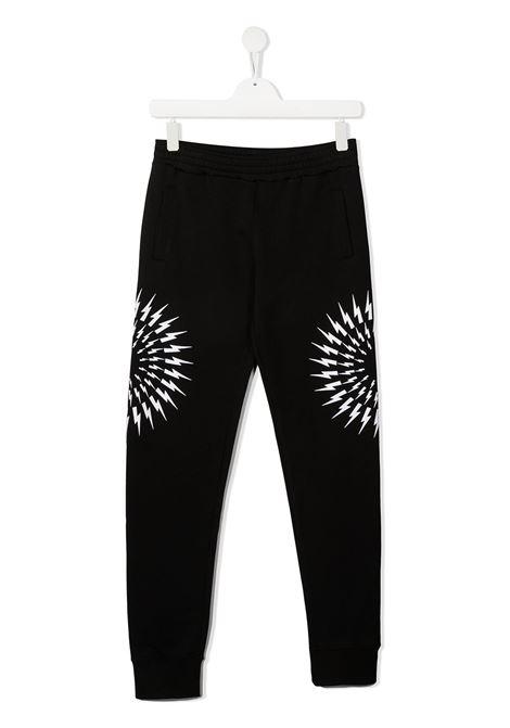 pantalone nero NEIL BARRETT KIDS | Pantalone | 027897110##