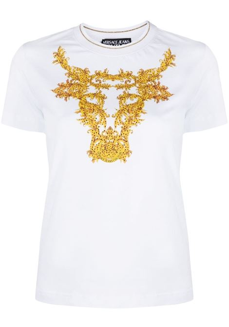 T-SHIRT STAMPA CRYSTAL VERSACE JEANS COUTURE   T-shirt   B2.HWA728.11620003