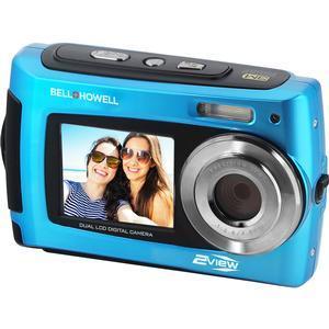 Bell & Howell 2VIEW18 HD Dual Screen Waterproof Digital Camera (Blue)