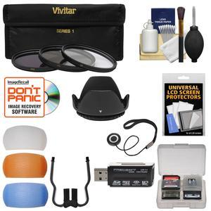 Essentials Bundle for Nikon D3400, D3500 & D5600 Camera with 18-55mm VR  AF-P Lens with 3 UV/CPL/ND8 Filters + Hood + 3 Pop-Up Flash Diffusers +  Reader