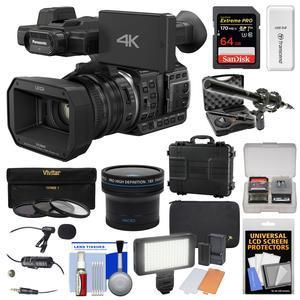 Panasonic HC-X1000 4K Ultra HD Wi-Fi Video Camera Camcorder with Fisheye  Lens + 64GB Card + Waterproof Case + LED Light + Microphone Set + Filters  Kit