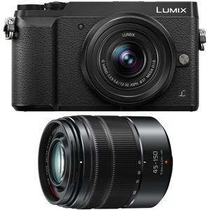 Panasonic Lumix DMC-GX85 4K Wi-Fi Digital Camera & 12-32mm & 45-150mm Lens  (Black)