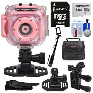 Precision Design K1 Kids Hd Action Camera Camcorder Pink With