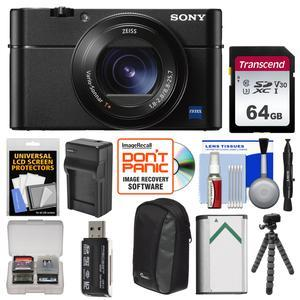 Sony Cyber-Shot DSC-RX100 VA 4K Wi-Fi Digital Camera with 64GB Card + Case  + Battery & Charger + Flex Tripod + Kit