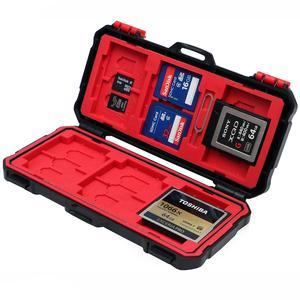 82c4a261a4f0c Vidpro Super Rugged Memory Card Case Holds 3 XQD, 3 CF, 12 SD & 6 MicroSD