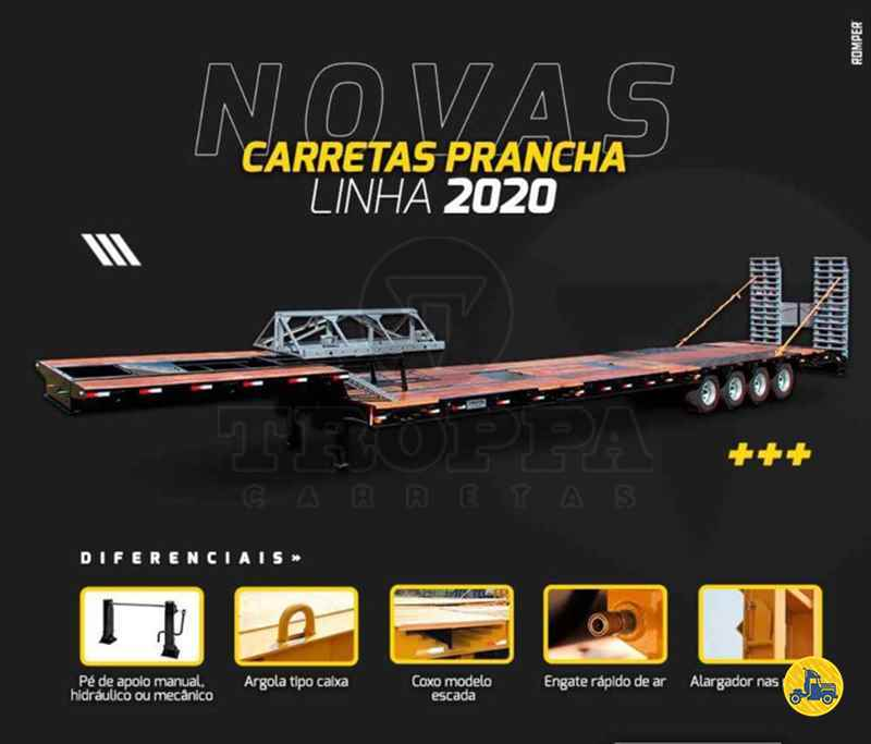 SEMI-REBOQUE PRANCHA  2020/2020 Troppa Carretas