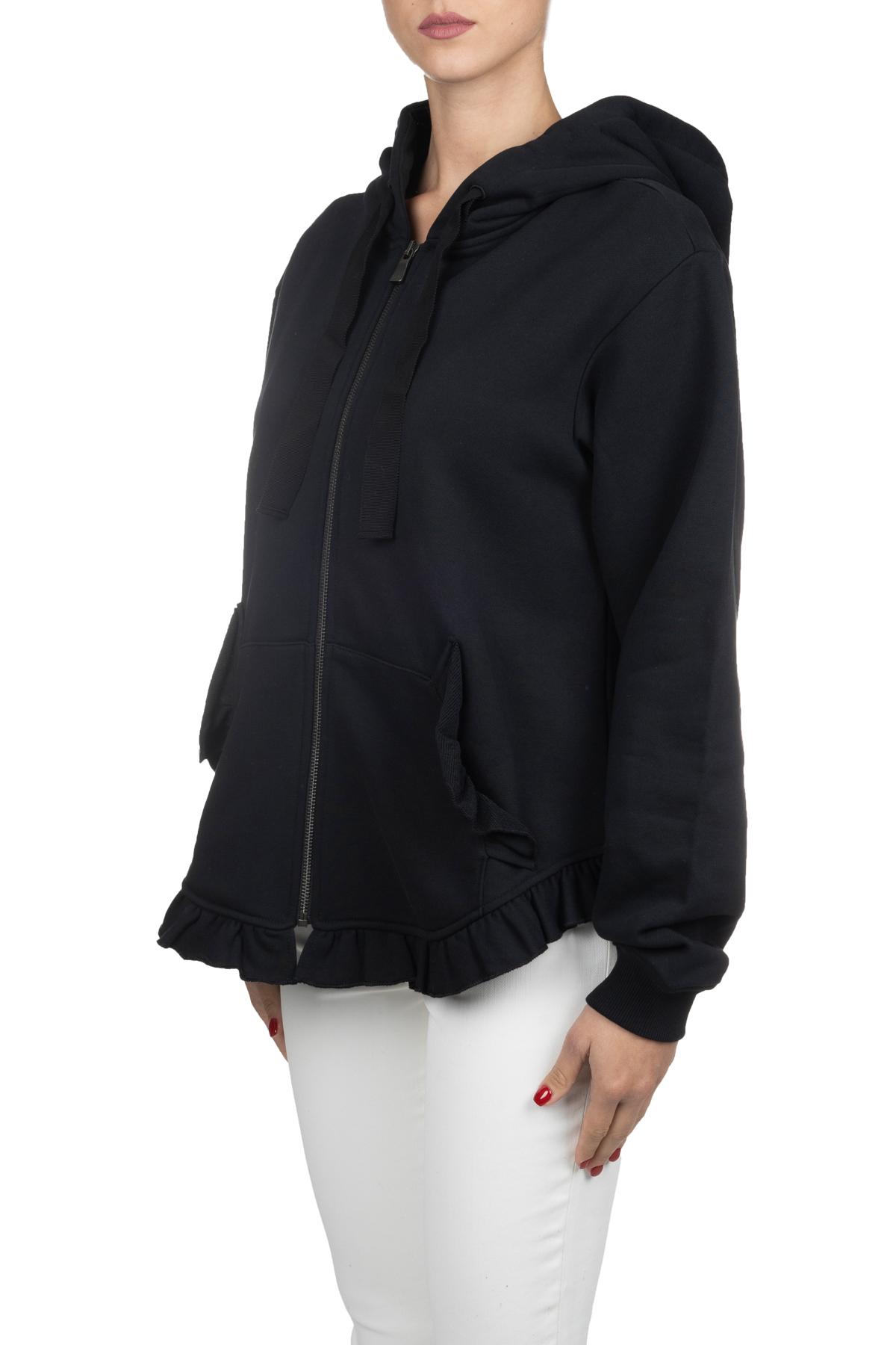 BLACK COTTON SWEATSHIRT WITH RETRO LOGO PRINT BOUTIQUE MOSCHINO | Sweatshirts | 170261252555