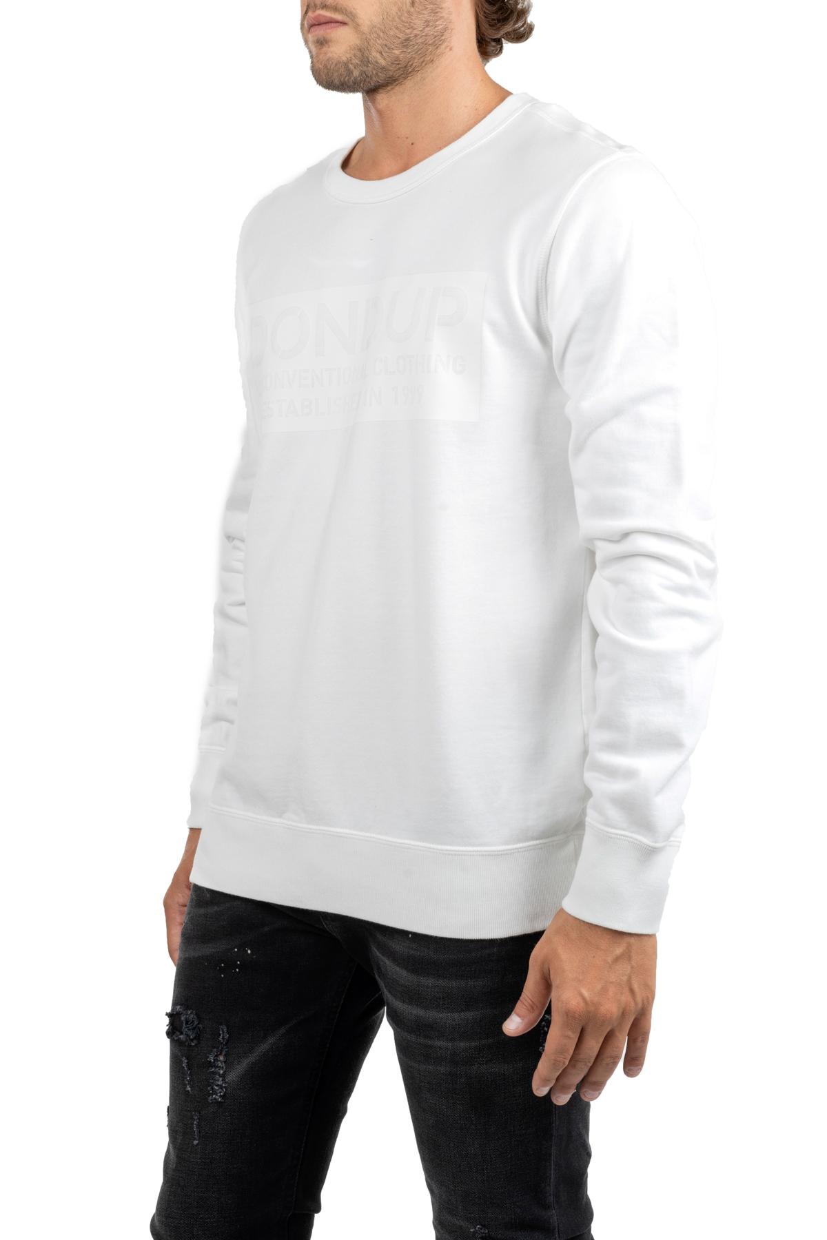 WHITE VEST WITH LOGO PRINT DONDUP | Sweatshirts | UF515KF0153I89DUW19000