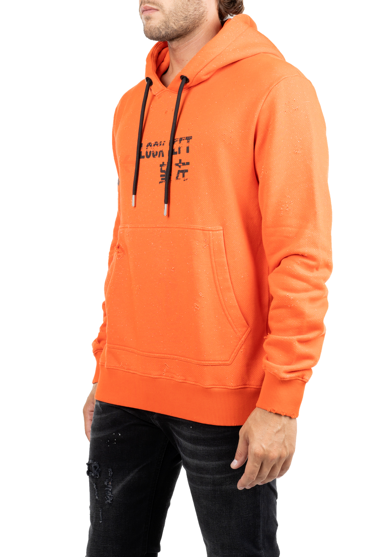 SWEATSHIRT IN COTTON ARANACION WITH LOGO ON RIGHT ARM LES HOMMES | Sweatshirts | UHH402757P5209