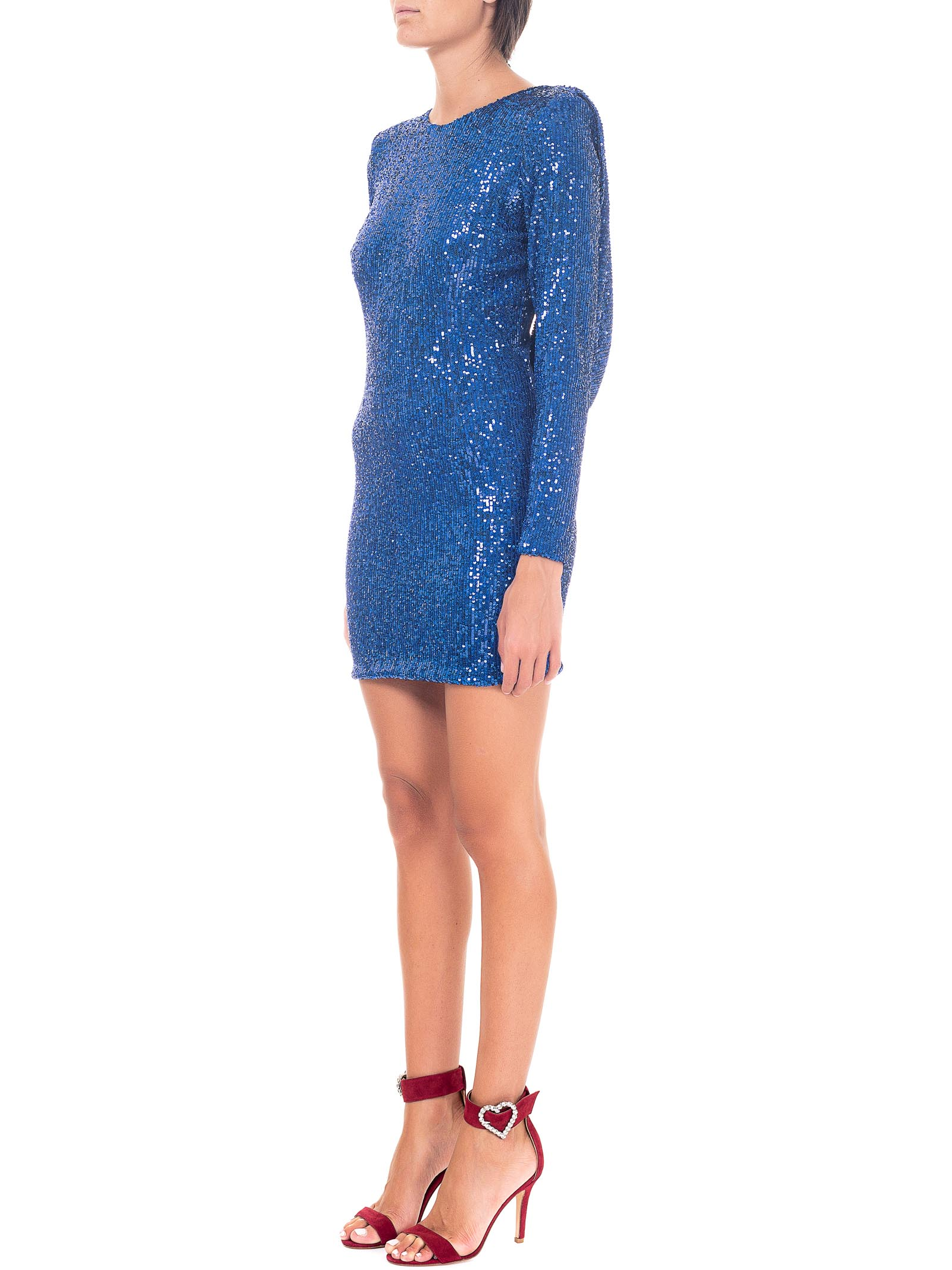SHORT BLUE SEQUIN DRESS ACTUALEE | Dress | AB003744COBALTO