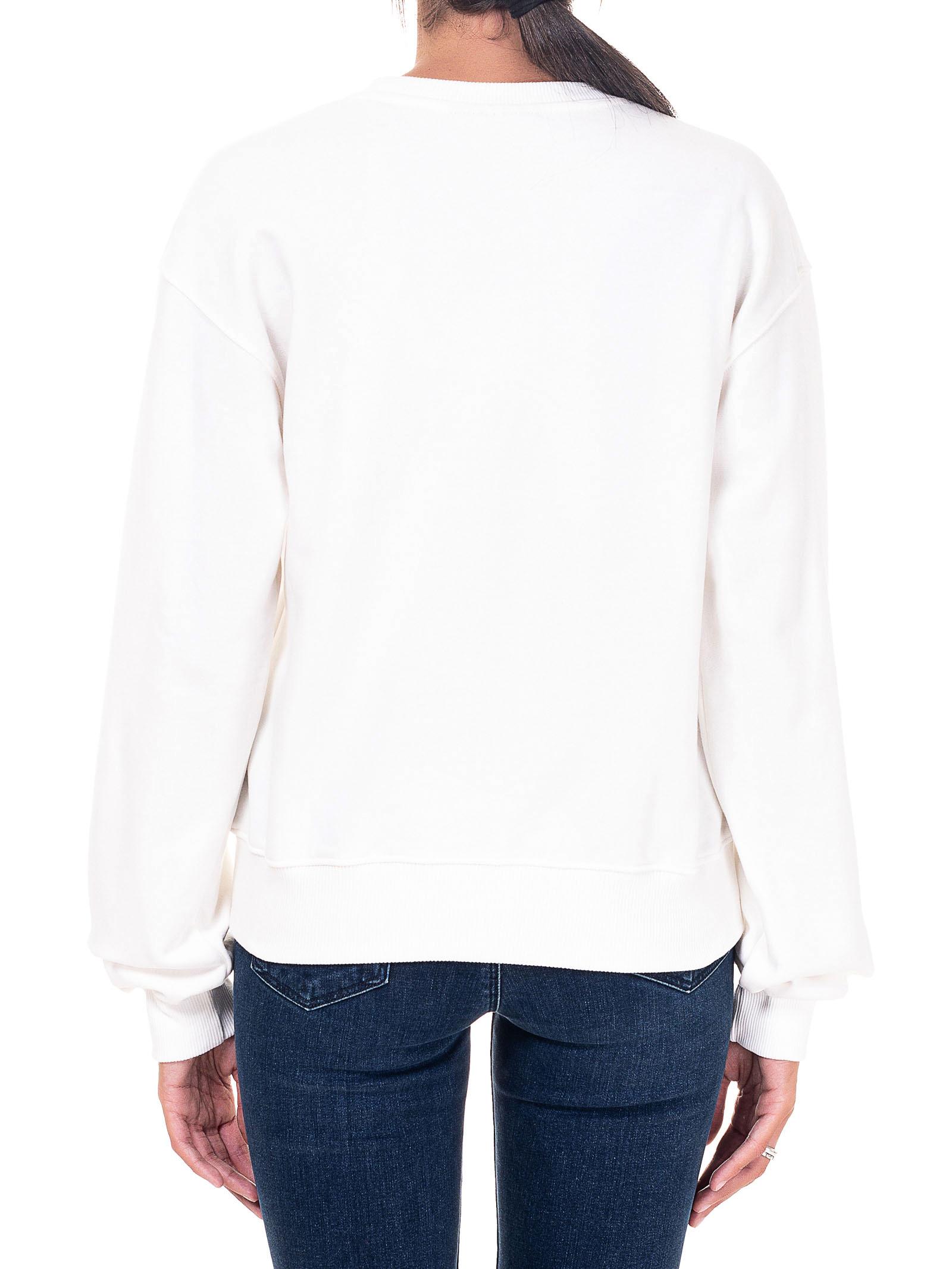WHITE SWEATSHIRT IN COTTON FLIRTING MODEL CHIARA FERRAGNI | Sweatshirts | CFF082BIANCO