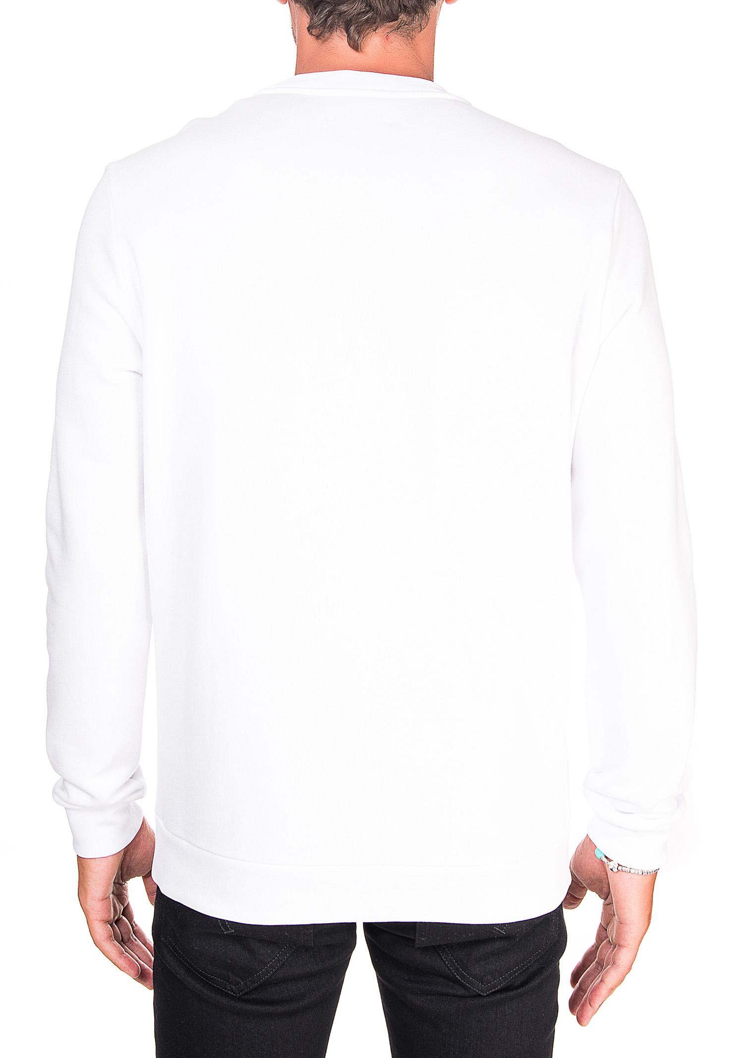 WHITE COTTON SWEATSHIRT WITH FRONT LOGO APPLICATION DONDUP   Sweatshirts   UF617KF0136ZK7DUW20000