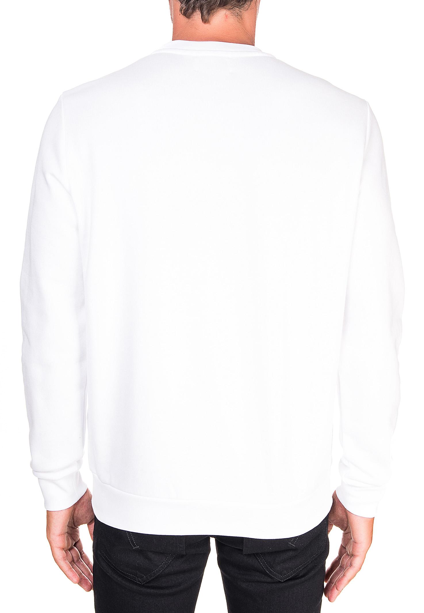 WHITE COTTON SWEATSHIRT WITH FRONT LOGO APPLICATION DONDUP | Sweatshirts | UF617KF0136ZK8DUW20000