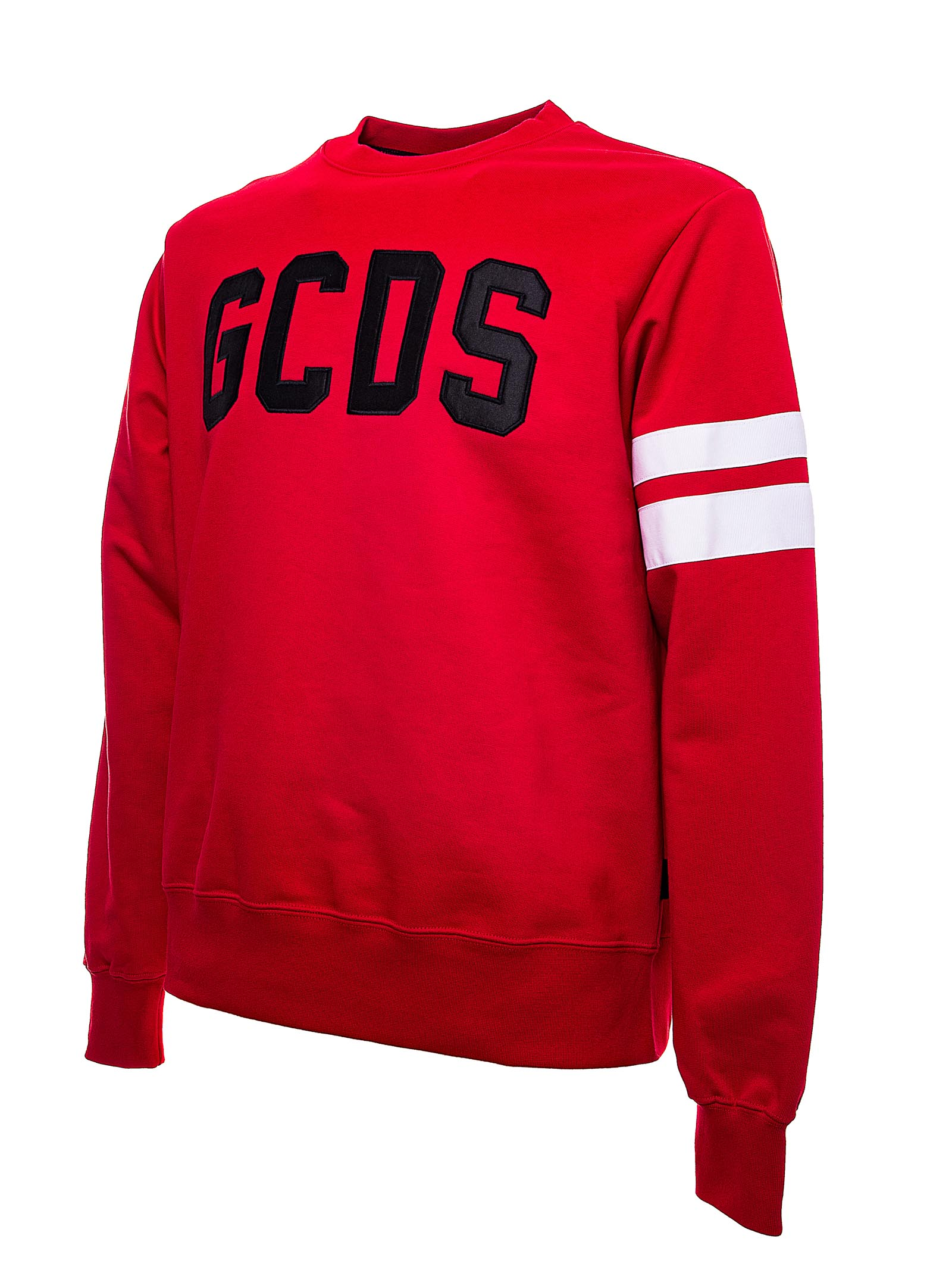 RED COTTON SWEATSHIRT WITH FRONT LOGO GCDS | Sweatshirts | CC94M021003ROSSO