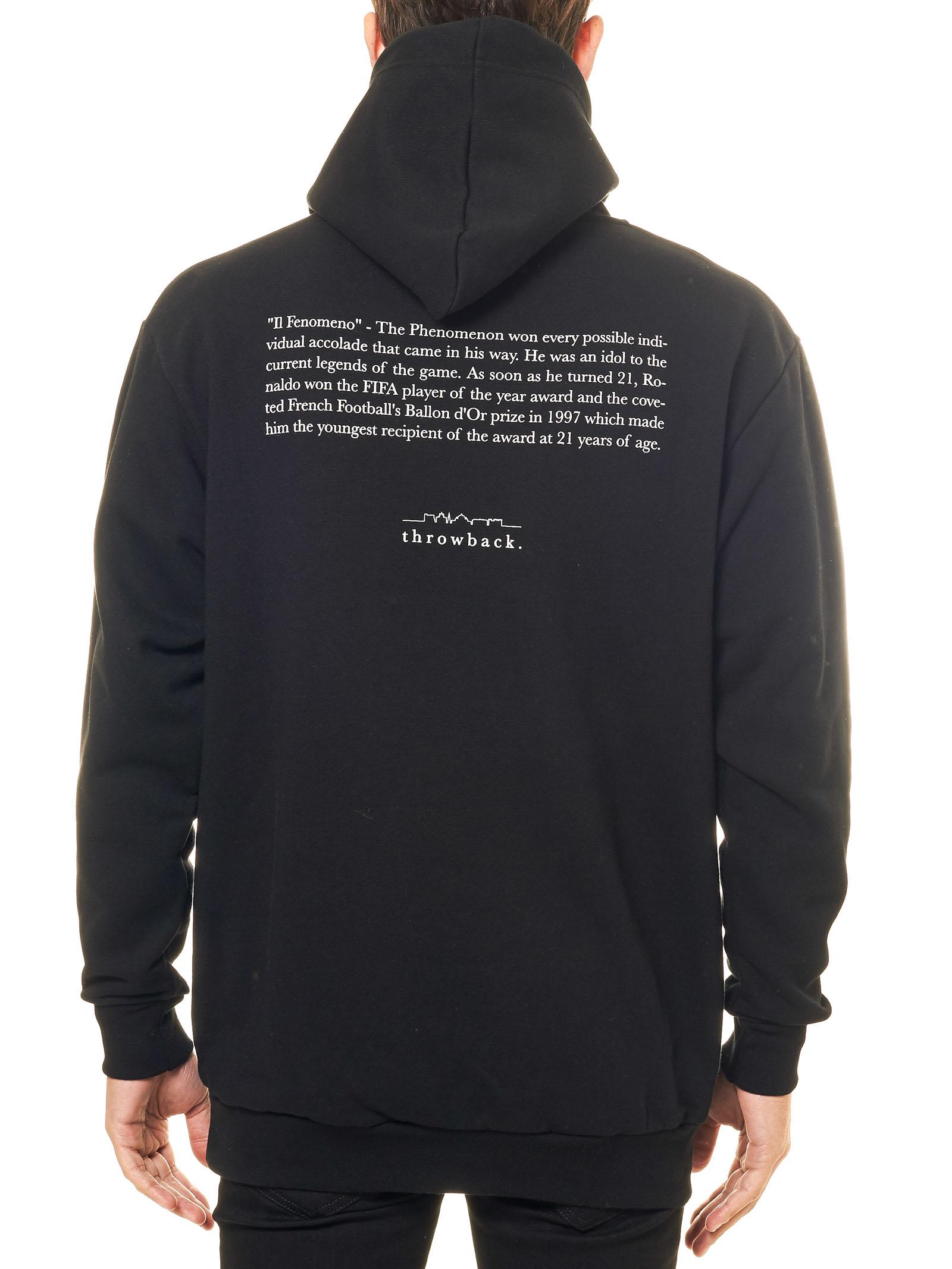 BLACK COTTON SWEATSHIRT WITH FRONT RONNY PRINT THROWBACK | Sweatshirts | TBSRONNYNERO