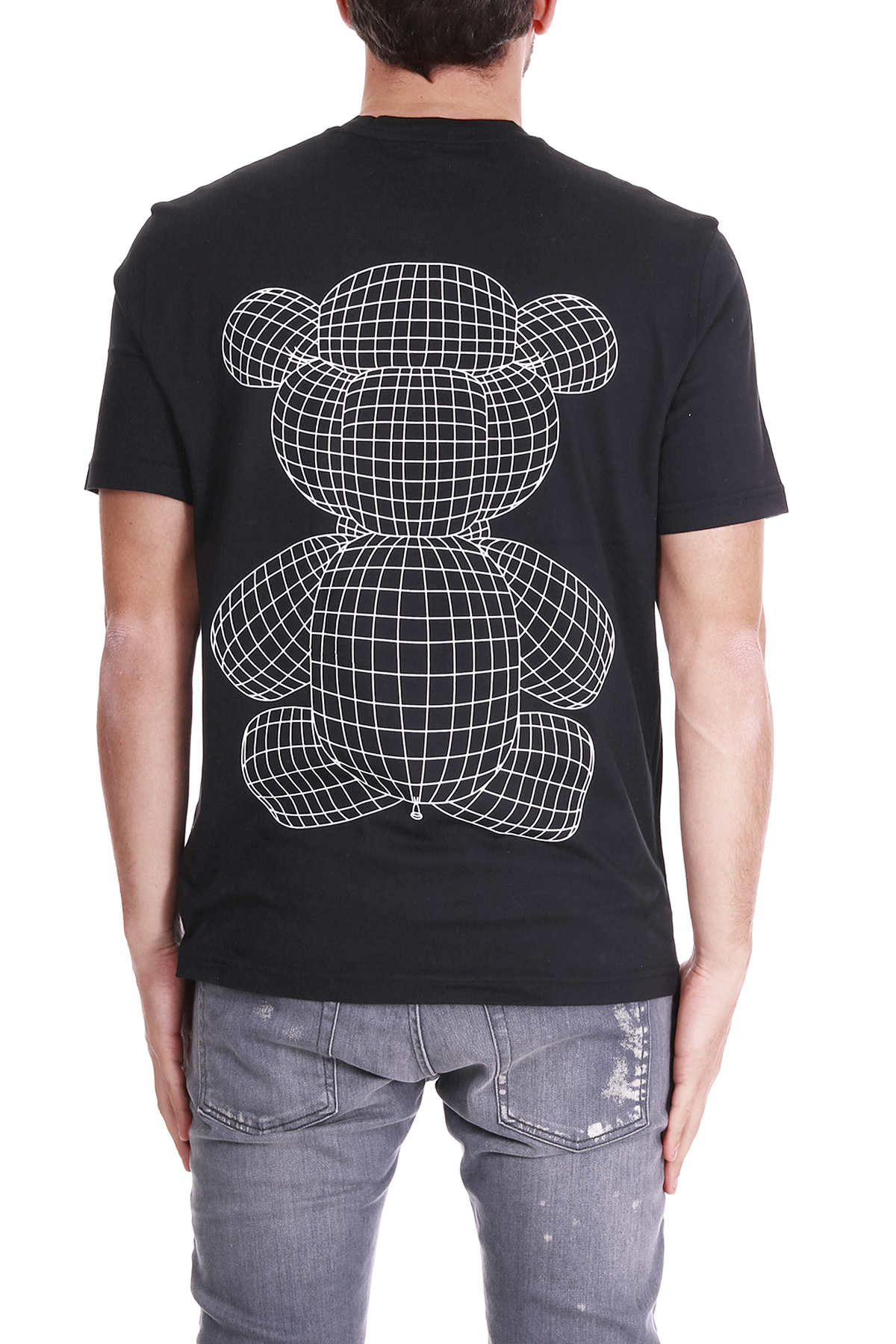 T-SHIRT CON STAMPA FRONTALE E SUL RETRO BLACKBARRETT   T-shirt   PXJT209NERO